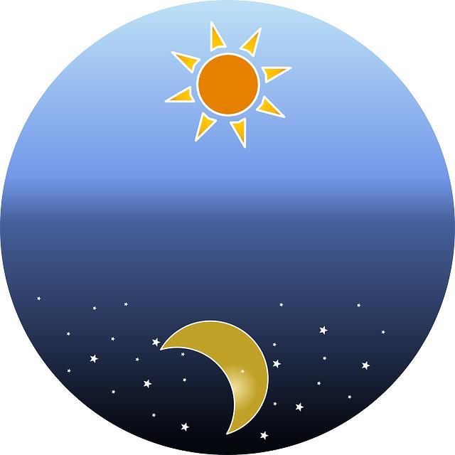 солнце звезды месяц